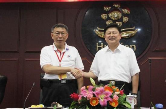 傅��萁松口回应2018选台北市长:不要给柯太多压力