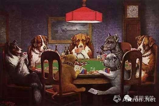 柯立芝 狗打扑克牌系列
