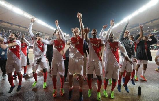 (体育)(1)足球――欧冠联赛:摩纳哥胜曼城晋级八强