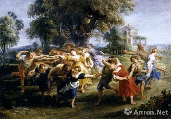 鲁本斯《农民的舞蹈》