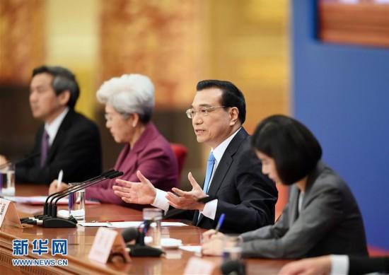 (两会・总理记者见面)(3)李克强总理与中外记者见面