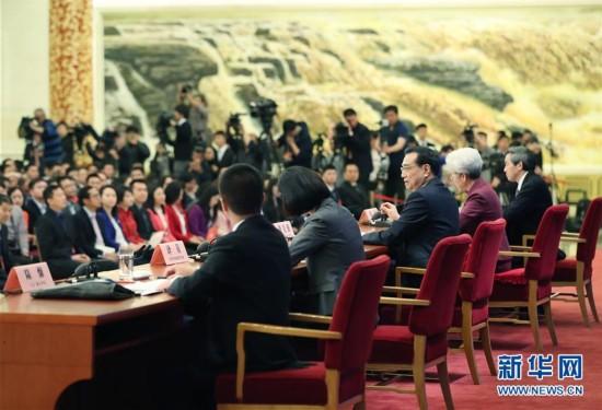 (两会・总理记者见面・XHDW)(4)李克强总理与中外记者见面
