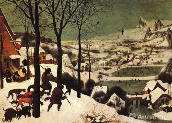 雪中猎人 彼得.勃鲁盖尔