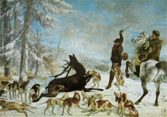 《被杀死的鹿》库尔贝