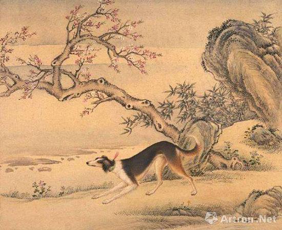 艾启蒙《十骏犬图》
