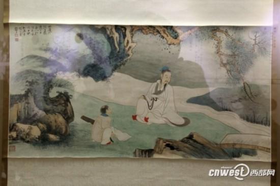张大千1944年绘制的松溪觅句图-图片版权归原作者所有