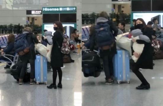 陈妍希被网友抓拍:双腿纤细差点抱不动宝宝