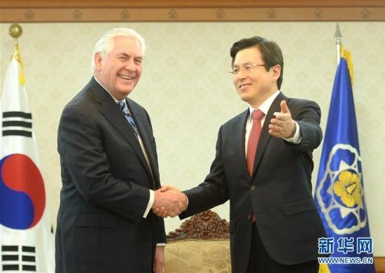 (国际)(1)美国国务卿蒂勒森访问韩国