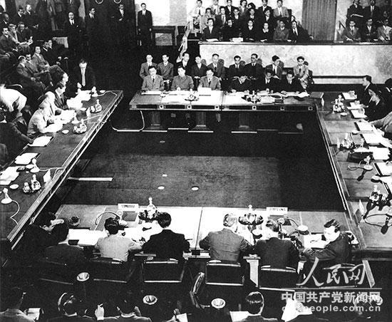 1954年,日内瓦会议会场。