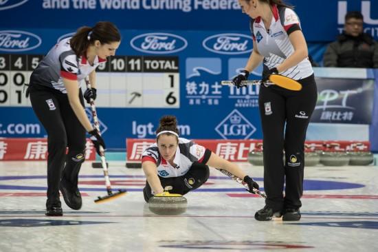 女子冰壶世锦赛开赛【7】