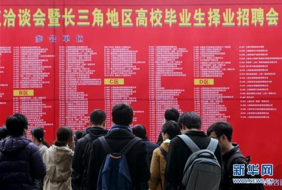 (社会)上海举行长三角地区高校毕业生择业招聘会