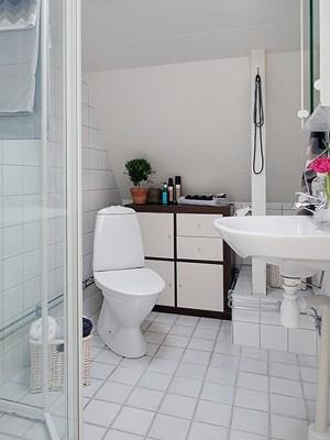 白色洁净清新风袭来 卫生间装修效果图