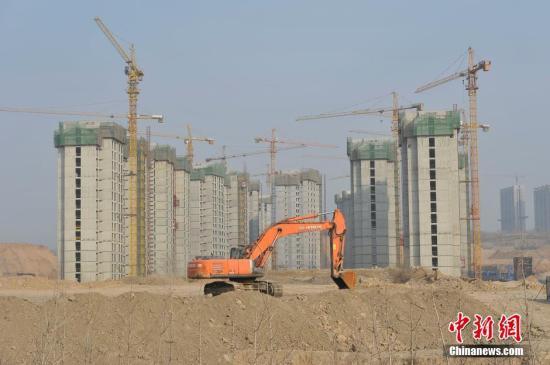 资料图:山西太原东中环一处房地产项目。 <a target='_blank'  data-cke-saved-href='http://www.chinanews.com/' href='http://www.chinanews.com/'><p  align=