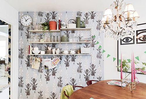 多彩壁纸塑斑斓家 生动明亮老公寓