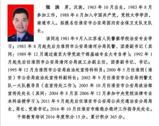 淮安10名市管领导任前公示 涉规划局局长等
