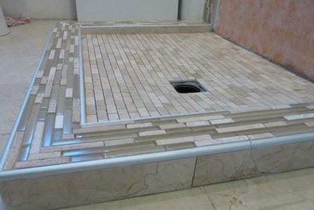 瓷砖小妙用 6款实用淋浴间防水台