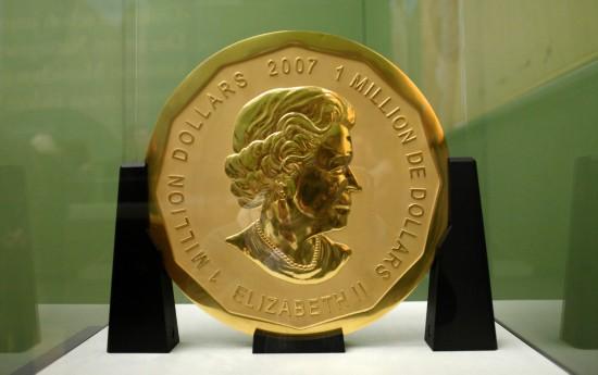德国博物馆一重达100公斤金币被盗 面值100万美元(图)