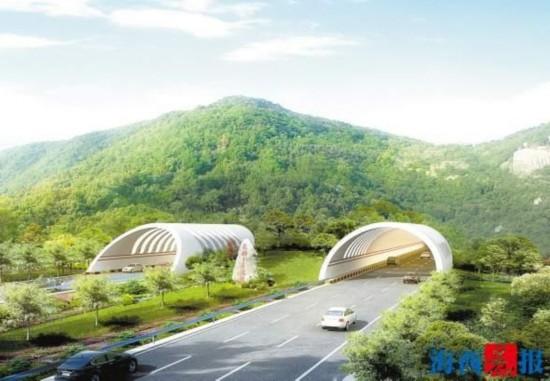 漳州九龙岭隧道开建 花都I号隧道全长2.361公里