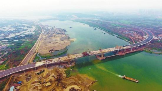 遂宁涪江五桥全桥合龙 主体结构全部完成(图)