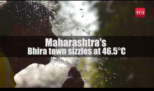 印度部分地区遭遇罕见热浪 一小镇出现46.5度高温