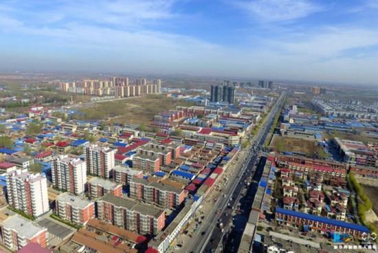 An aerial photo shows Xiongxian county in Hebei Province. [Photo: Xinhua]