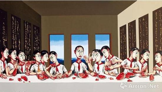 NO.1 曾梵志《最后的晚餐》 成交价:1.8亿港元