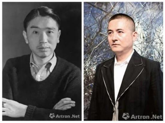一个是20世纪曾经风流倜傥的翩翩佳公子,一个是目前炙手可热的当代艺术大师。