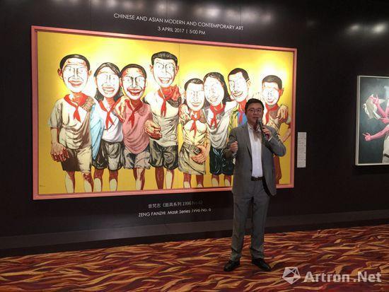 保利香港拍卖董事赵旭在预展开幕现场致辞