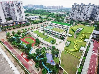 澄迈老城开发区:美丽校园 学习乐园