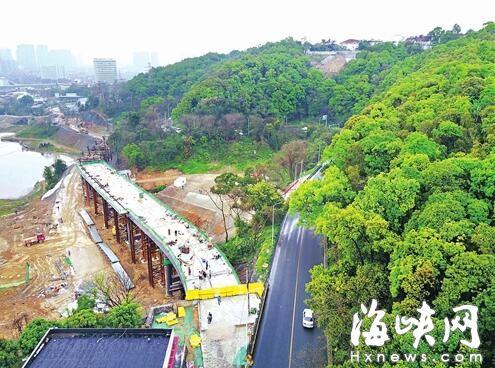 福飞北路盘山段 将建成福州最长钢箱梁高架桥