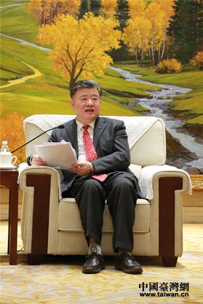 全国人大常委会副委员长、中国统促会副会长陈竺讲话。