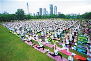 瑜伽运动:我运动,我健康,我快乐