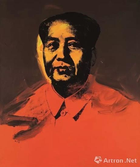 安迪・沃荷 《毛主席》 成交价:9850万港元  香港�K富比2017年春拍