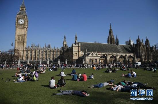 英国伦敦的春季暖阳