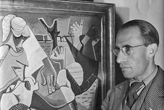 """雷恩・吉耶特的一张老照片中,能够清楚的看到那幅""""遗失""""的立体派画作"""