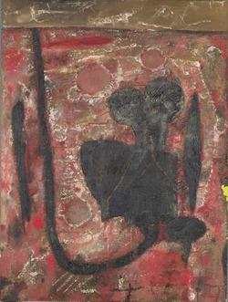 """雷恩・吉耶特作于1953年的原生艺术风格作品""""风景"""""""