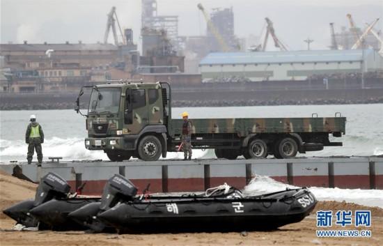 韩美举行军需物资两栖补给演习(组图)