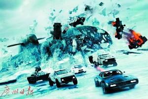 """速8祭出""""汽车雨"""" 还未上映已卖出1亿票房"""