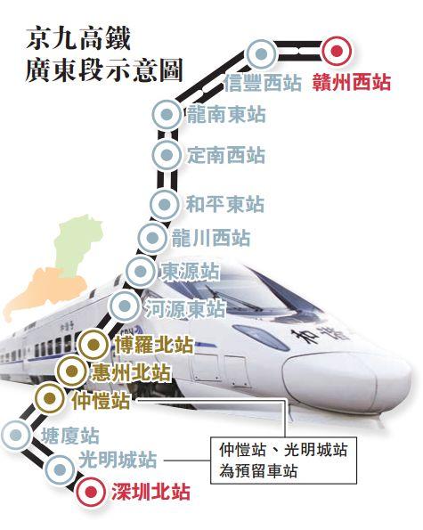 京九高铁广东先行段全面开建 港深至粤东北有望捷运化