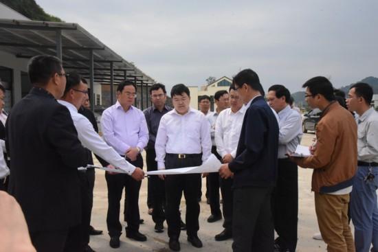 孙大光到龙州县调研口岸建设和氧化铝项目建设工作