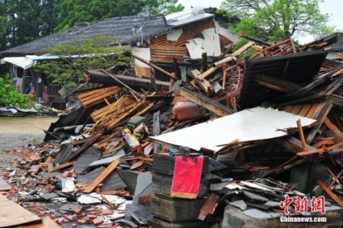 资料图:熊本灾区