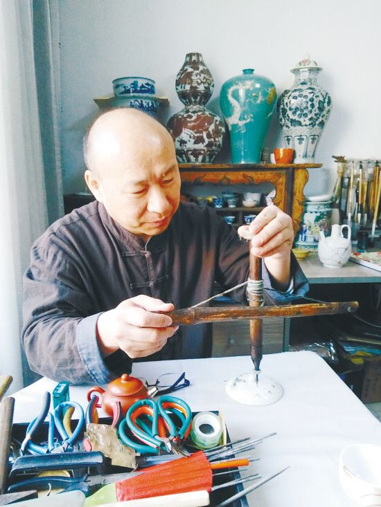 沈阳锔瓷:在指尖上重现古老国粹