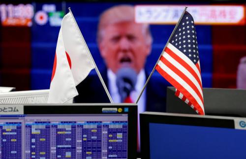 资料图:日美国旗