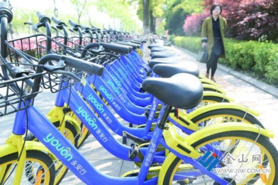 共享单车登陆镇江 每小时收费一元上不封顶