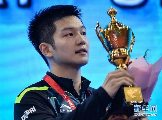 (体育)(1)乒乓球――亚锦赛:男单颁奖仪式