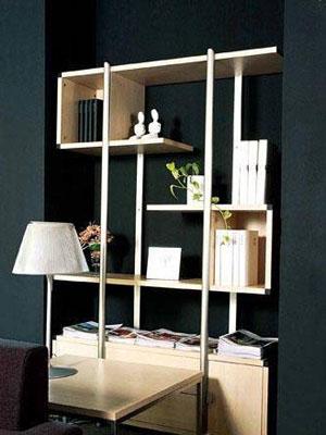 方案四:书柜储物柜合成完整储纳空间