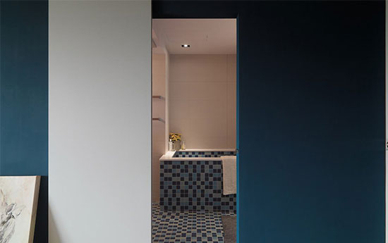 日系遇上海军蓝 120平唯美悠闲三居室