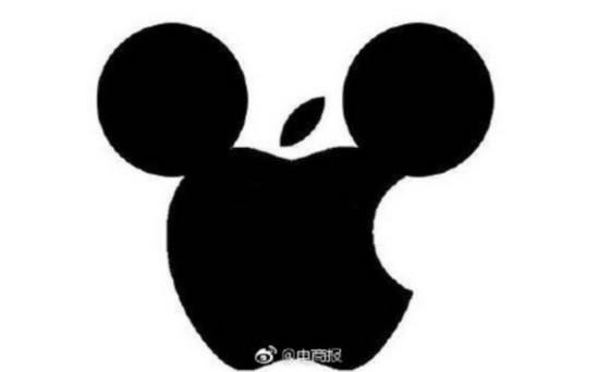 如果收购迪士尼 苹果的logo会变成这样 ?