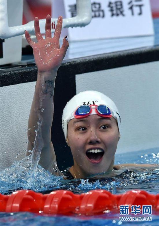 (体育)(1)游泳――全国冠军赛:广东队选手刘湘获得女子50米自由泳冠军
