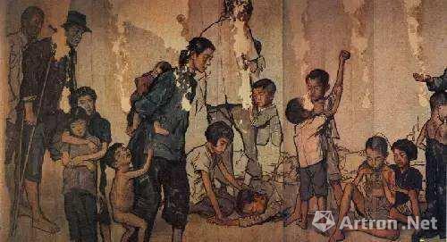 蒋兆和1941-1943年创作的《流民图》(局部)